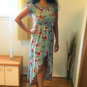 NWT! Almost Famous Long Dress Blue M